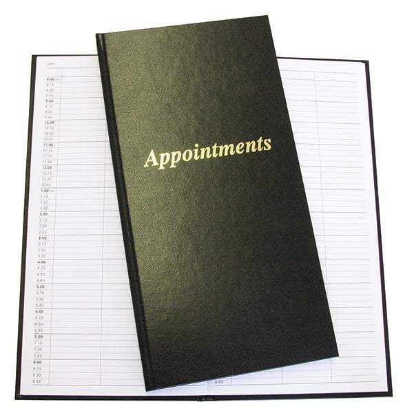 3 Column Salon Appointment Book - Franklins