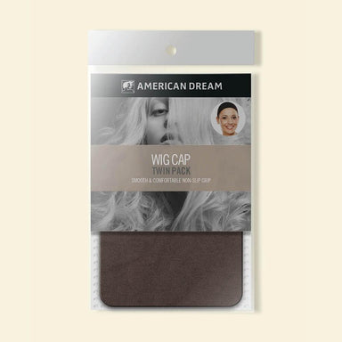 American Dream Wig Cap Twin Pack Brown - Franklins