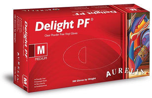 Aurelia Delight Powder Free Vinyl Gloves 100pk - Franklins