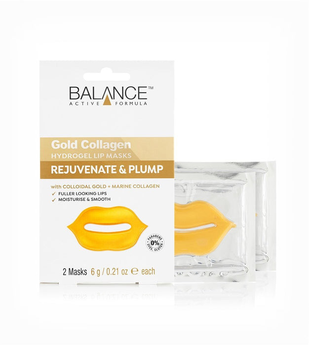 Balance Active Formula Gold Collagen Hydrogel Lip Masks - Franklins