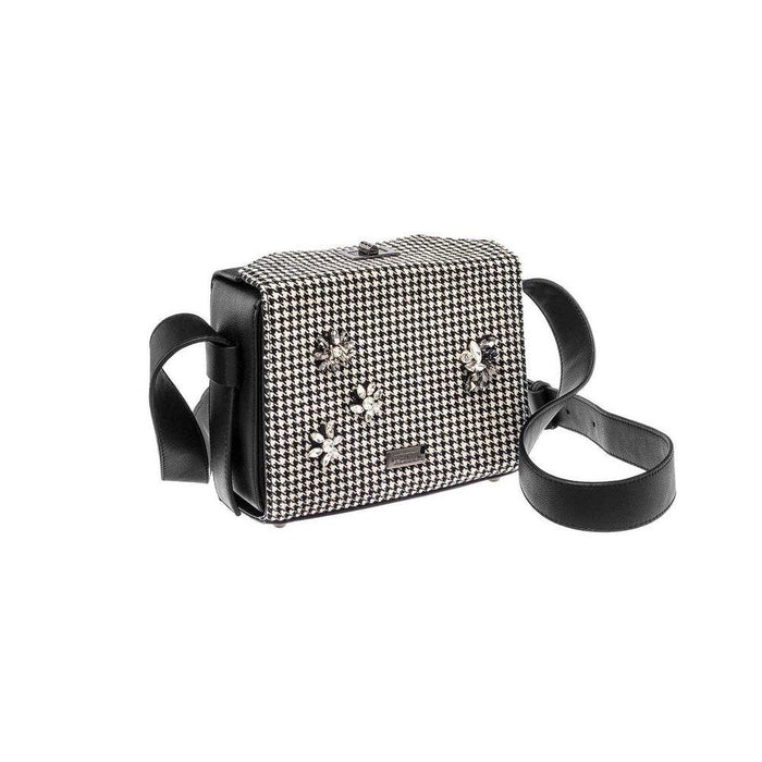 Black and White Plaid Crossbody Bag - Franklins