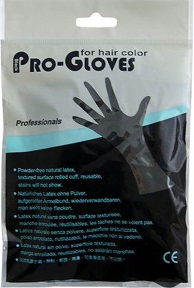 Black Pro Reusable Powder Free Latex Gloves (1 PAIR) - Franklins