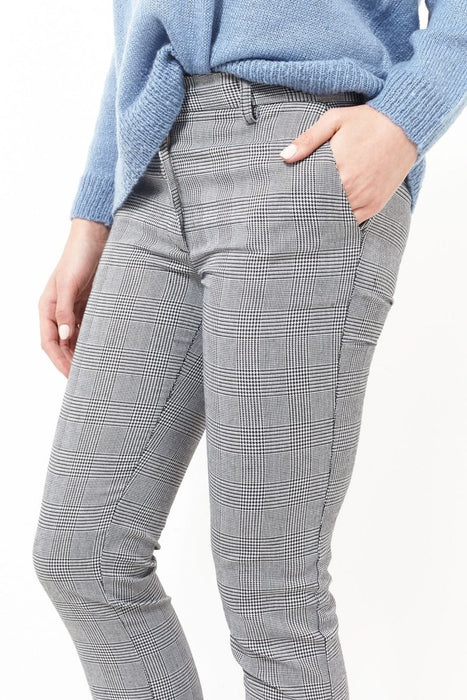 Brave Soul Cropped Prince Of Wales Check Trousers - Franklins