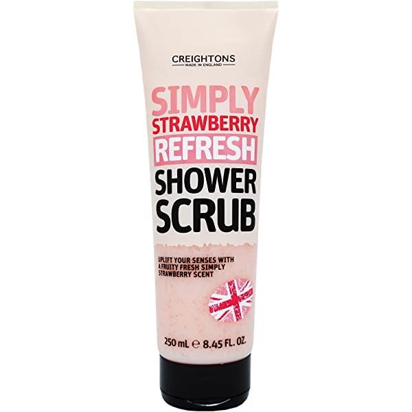 Creightons Simply Strawberry Refresh Shower Scrub 250ml - Franklins