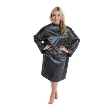 Crewe Orlando Rose Print Sleeve Hairdressing Gown (Black) - Franklins