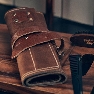 Dark Stag Leather Barber Tool Roll - Franklins