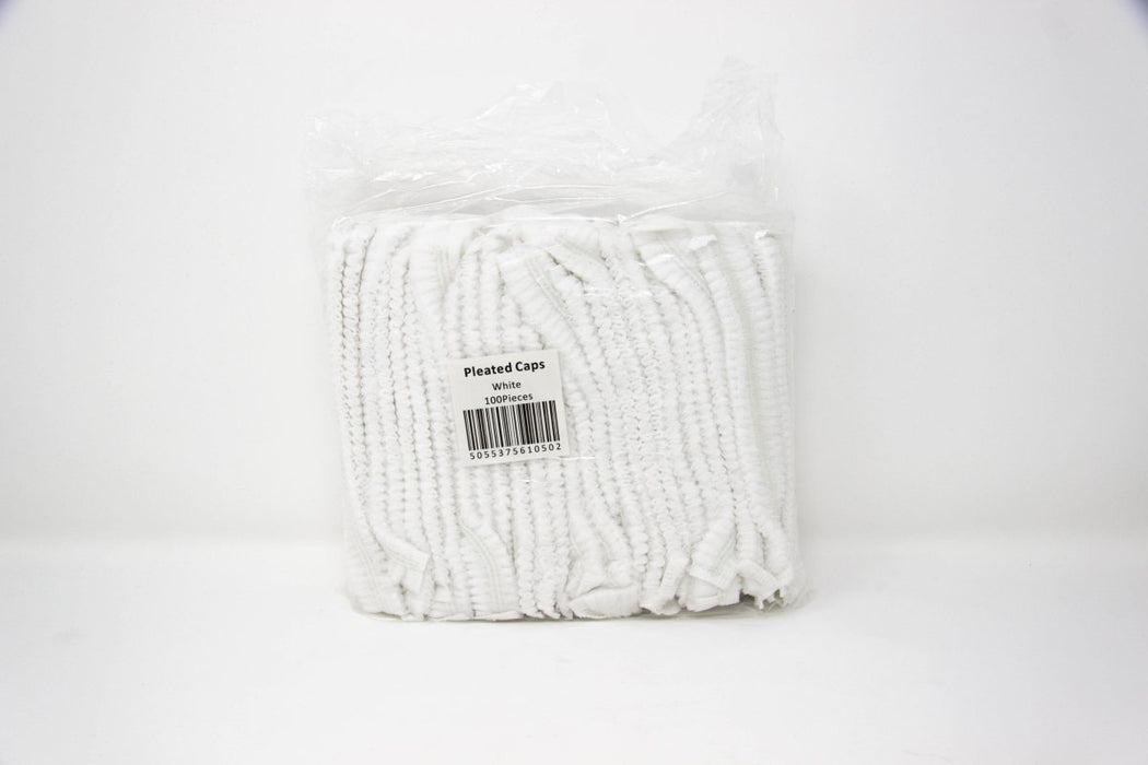 Disposable Pleated Caps 100 Pieces - Franklins
