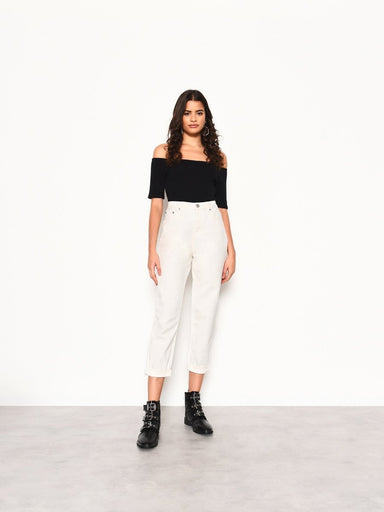 Glamorous Off White 'Mom' Jeans - Franklins