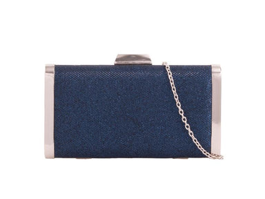 Glitter Navy Box Clutch Bag - Franklins