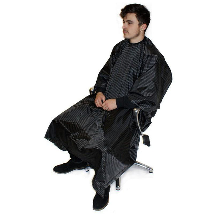 Hair Tools Pinstripe Barber Hairdressing Gown - Franklins