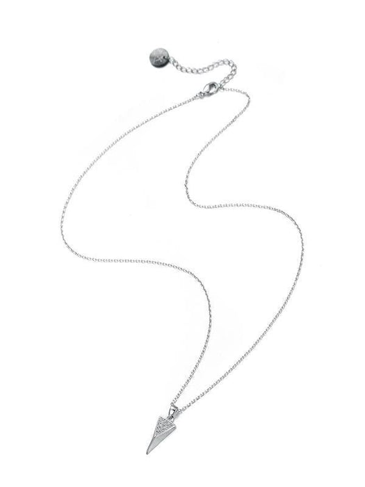 Karen Sampson Silver Cubic Zirconia Necklace - Franklins