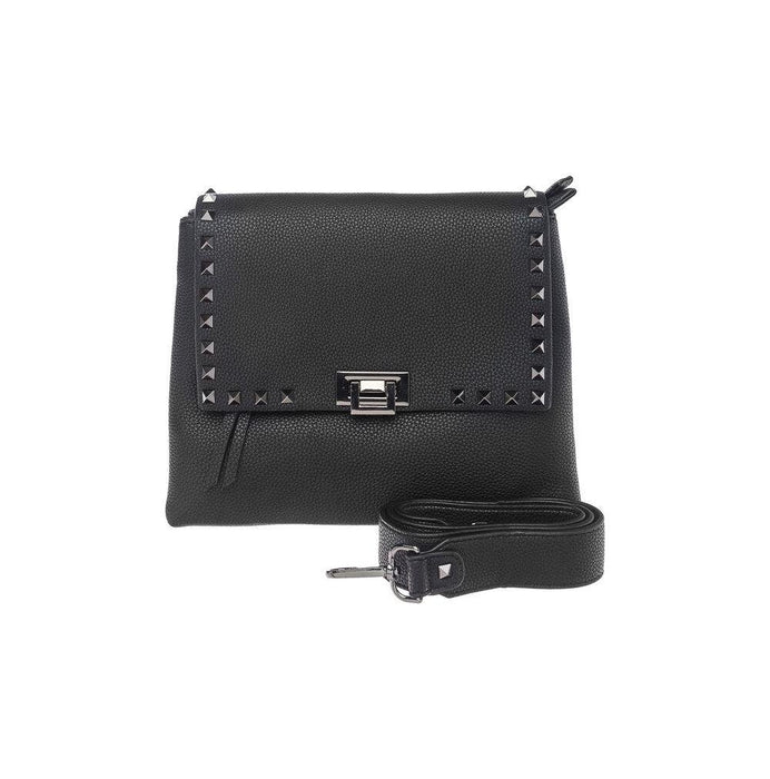Keddo Black Studded Leather Handbag - Franklins