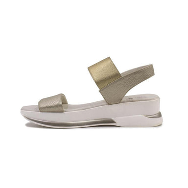 Keddo Gold & White Mini Wedge Sandal - Franklins
