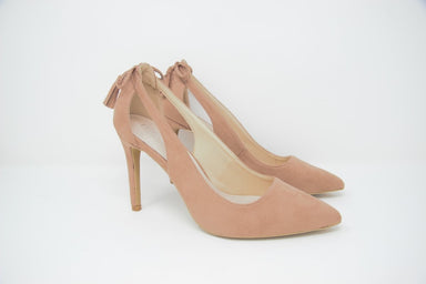 Nude High Heel Cut Out Court Shoes - Franklins