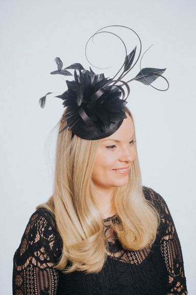 Pillbox Feather & Flower Fascinator - Franklins