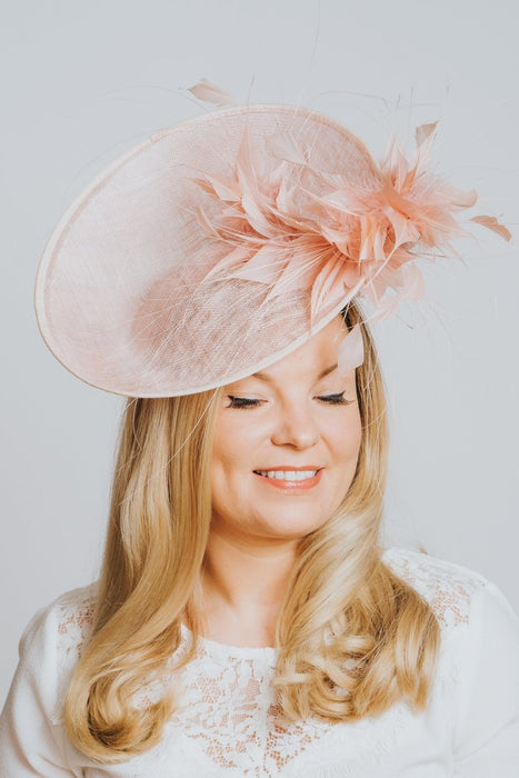 Powder Pink High Perched Fascinator - Franklins