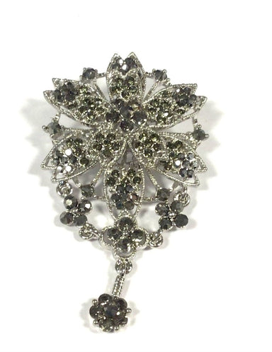Silver/Pewter Flower Brooche - Franklins