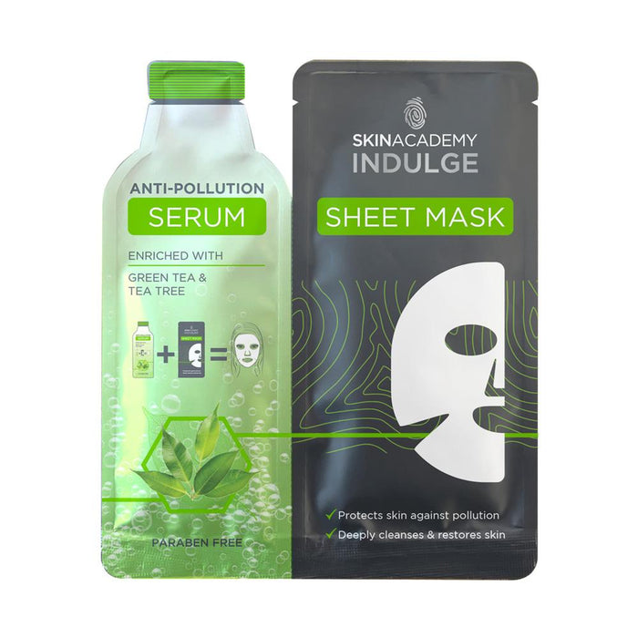 Skin Academy Indulge Sheet Mask With Anti Pollution Serum 25ml - Franklins