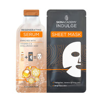 Skin Academy Indulge Sheet Mask With Regenerating Serum 25ml - Franklins