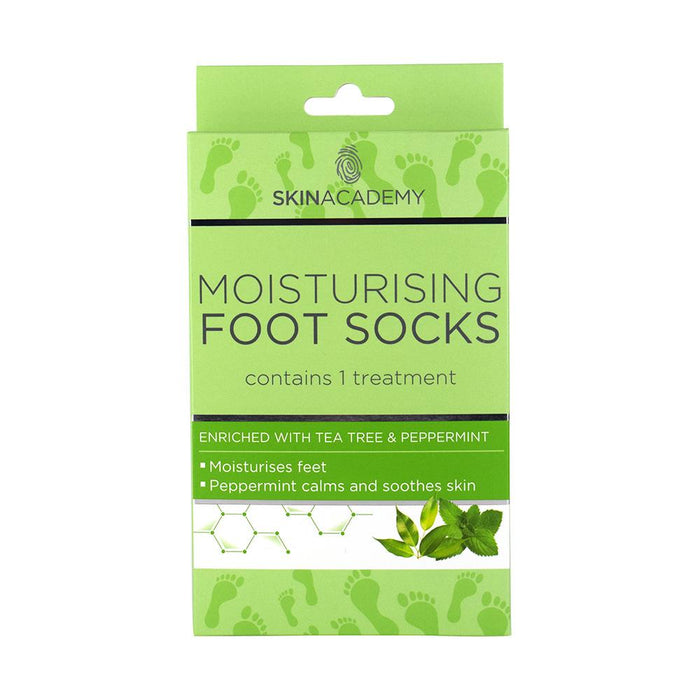 Skin Academy Moisturising Foot Socks Tea Tree & Peppermint - Franklins