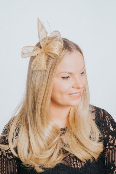 Small Sinamay Bow Fascinator - Franklins