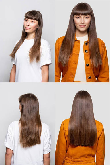 "Stranded 18"" Heat Resistant Straight Clip In Hair Extension - Franklins"