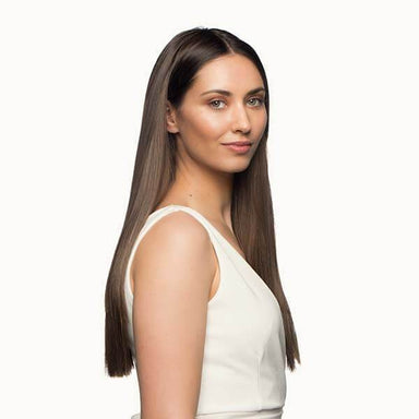 "Stranded 18""/20"" Heat Resistant Straight Clip In Hair Extension - Franklins"