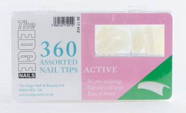 The Edge Active Nail Tips Box Of 360 Assorted Tips - Franklins