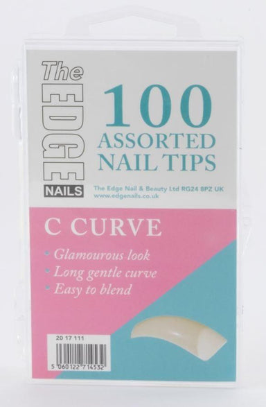 The Edge C Curve Nail Tips Box Of 100 Assorted Tips - Franklins