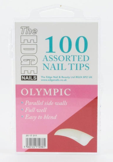 The Edge Olympic Nail Tips Box Of 100 Assorted Tips - Franklins