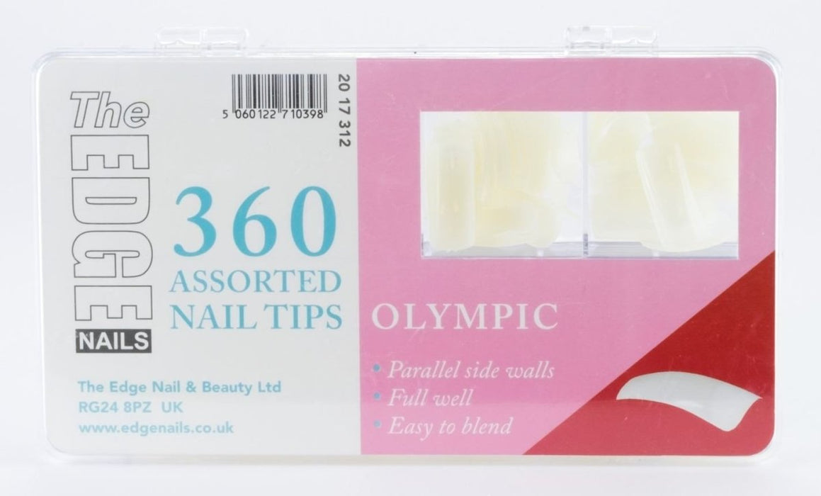 The Edge Olympic Nail Tips Box Of 360 Assorted Tips - Franklins