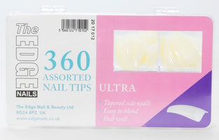 The Edge Ultra Nail Tips Box Of 360 Assorted Tips - Franklins