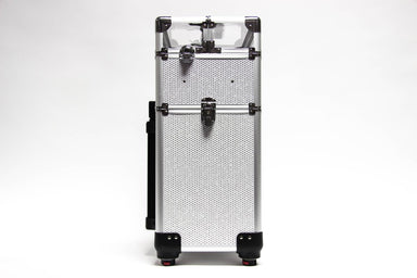 White Glitter Equipment Trolley Case - Franklins