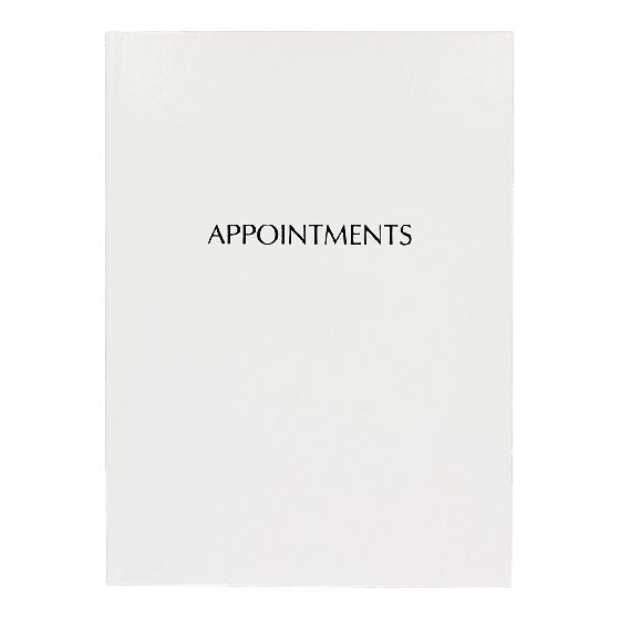White Gloss 6 Column Appointment Book - Franklins