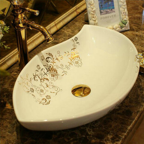 Ceramic bowl sink.