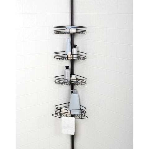 Tension corner shower caddy.