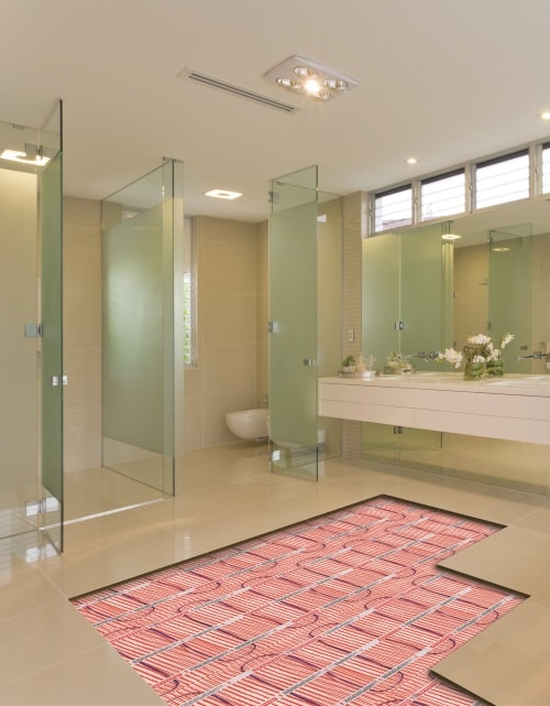 Trendy underfloor heating system