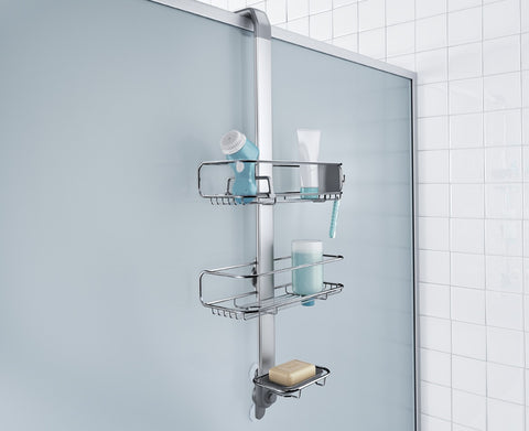 Over-the-door shower caddy.