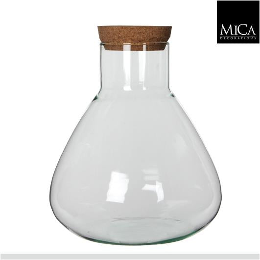 Conical flask terrarium jar