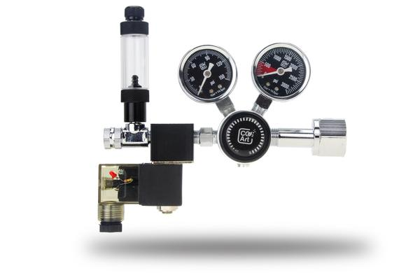 C02 Art PRO-SE SERIES - AQUARIUM CO2 DUAL STAGE REGULATOR WITH INTEGRATED SOLENOID