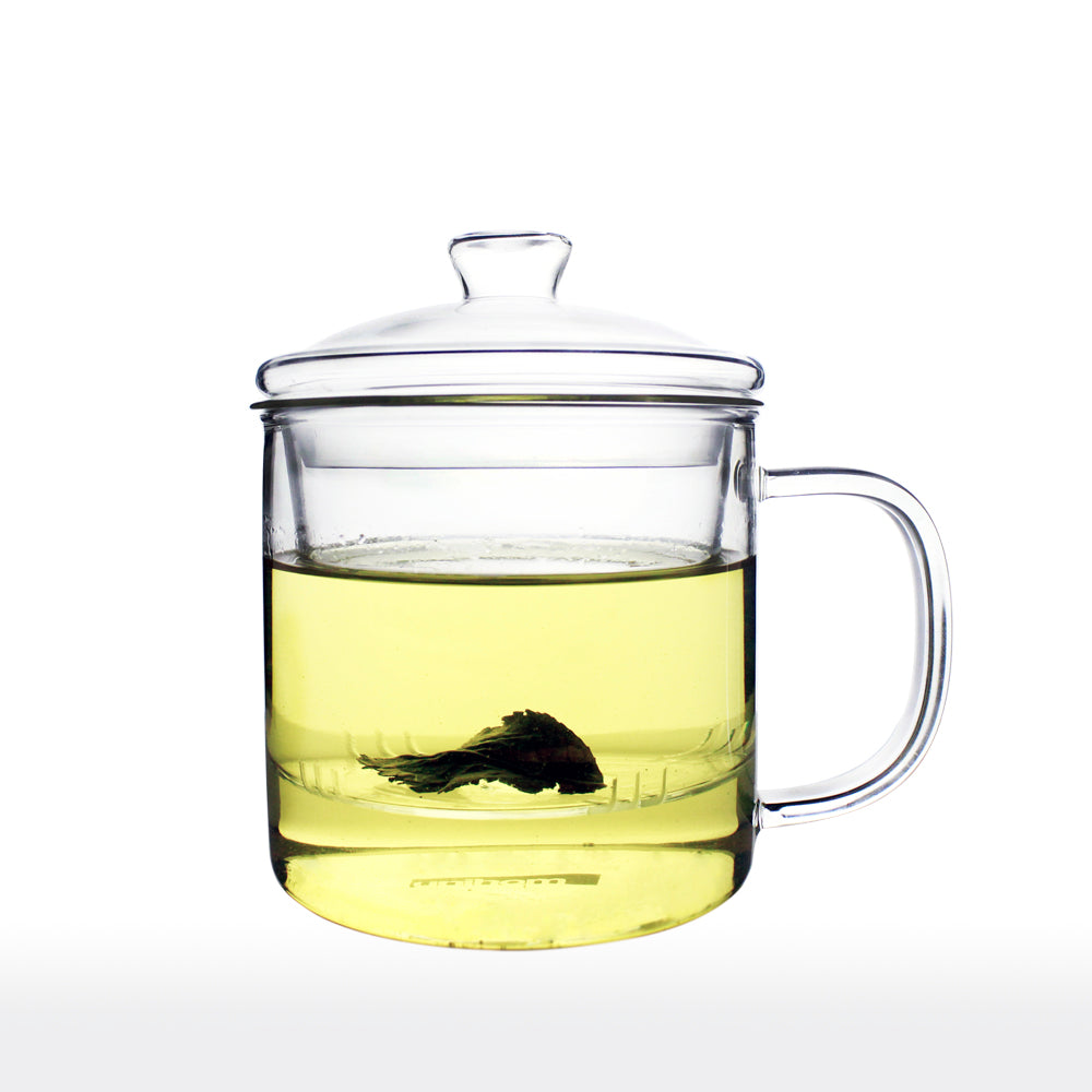Glass Tea Mug with Infuser and Lid 400ml - 70ty's Mug