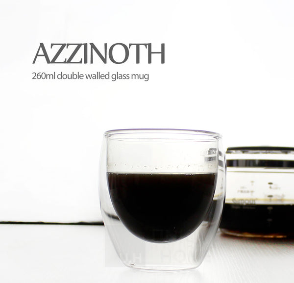 Double Walled Glass Tumbler 260ml (Set of 2) - Azzinoth