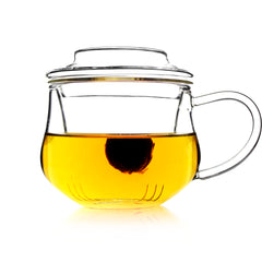 Glass Tea Mug with Infuser and Lid 300ml - Morax