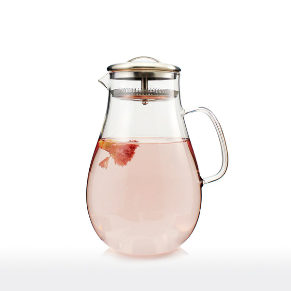 Glass Jug with Stainless Steel Filter Lid 1900ml - Navarre
