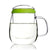 Glass Tea Mug with Infuser and Lid 600ml - Valentine