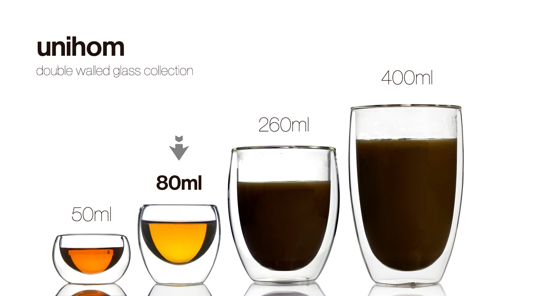 Double Walled Glass Tumbler 80ml (Set of 4) - Azzinoth