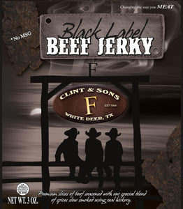 Clint & Sons Black Label Beef Jerky
