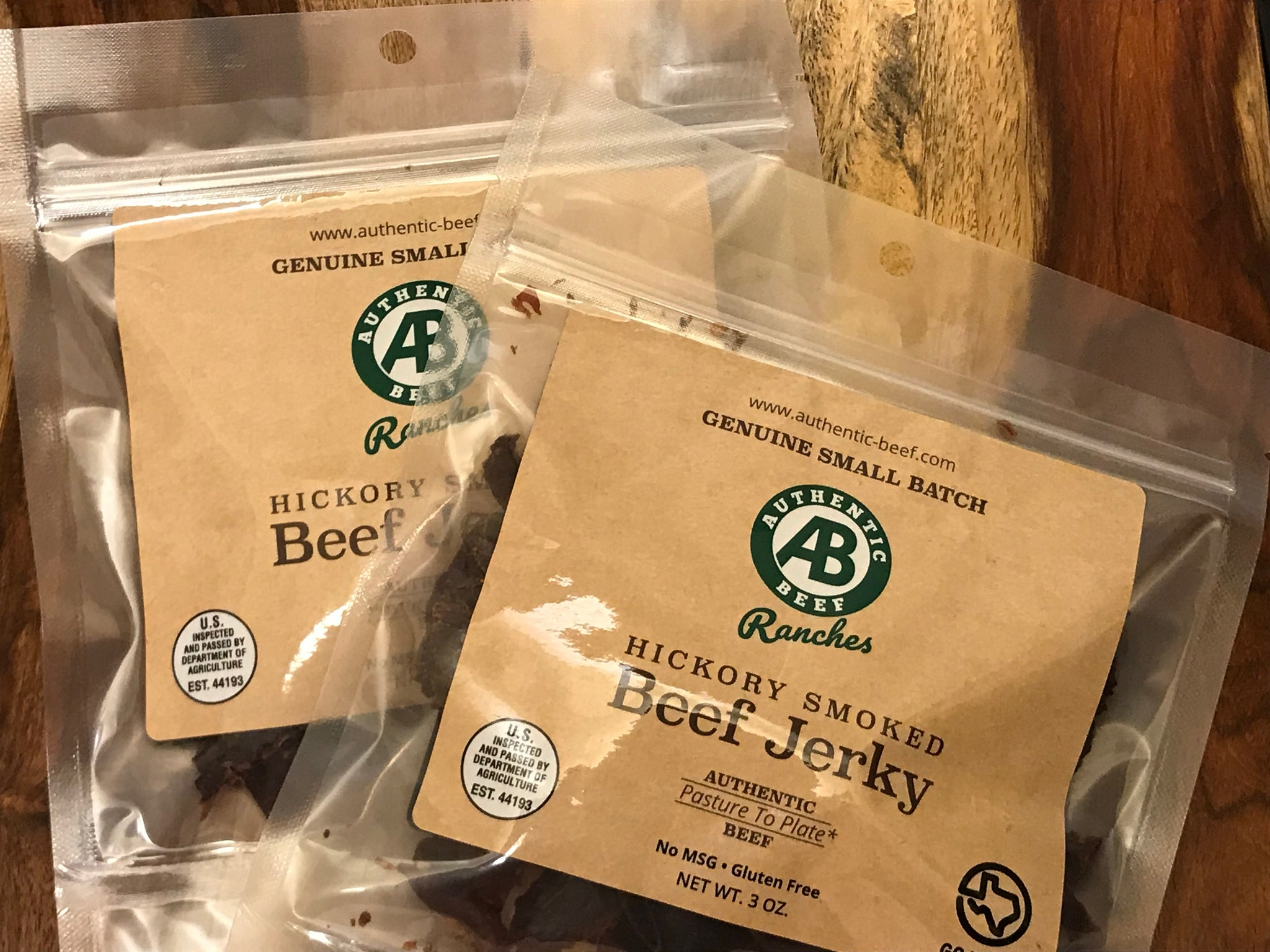 Dry Aged Authentic Beef Ranches Beef Jerky Packages