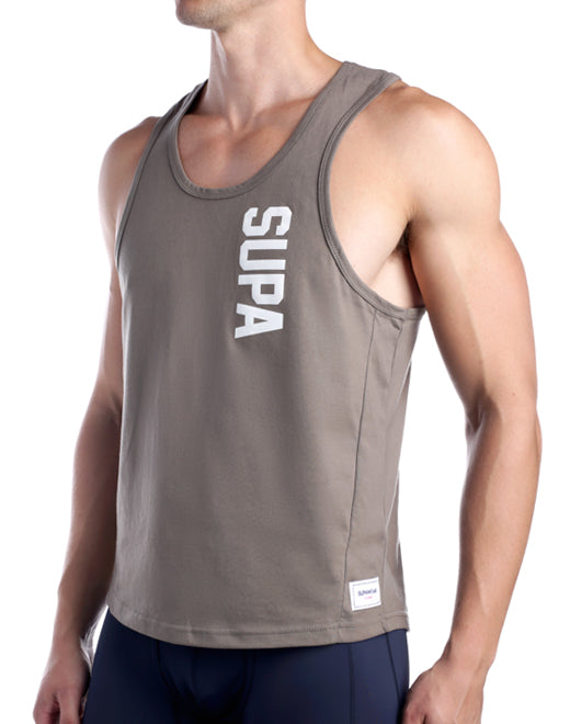 Strike Singlet - Walnut