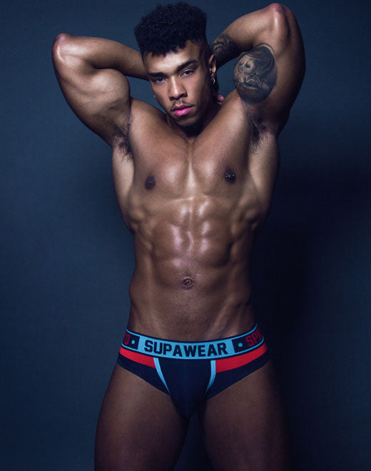 Cyborg Brief Underwear - Cyber Cyan